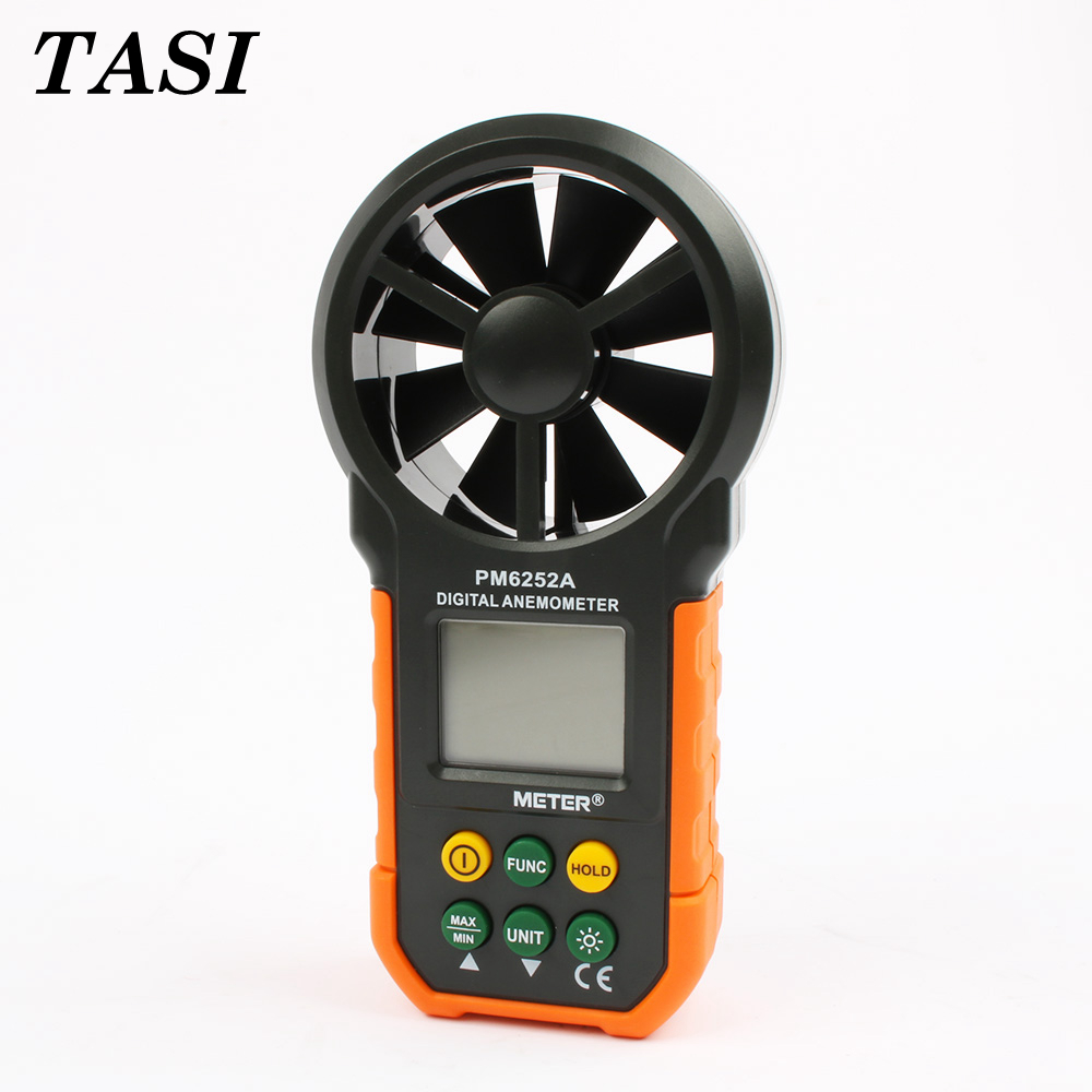 High quality Digital Anemometer Wind Speed Air Volume Measuring Meter MS6252A LCD