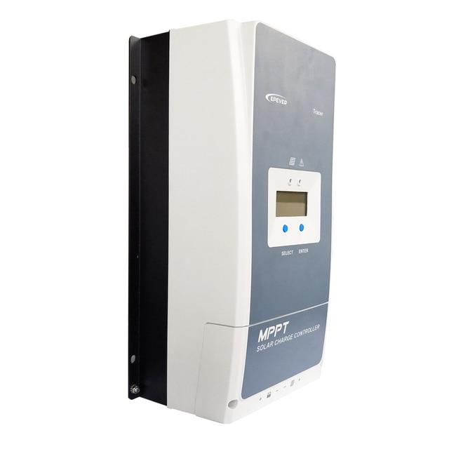 EPever MPPT 100A Solar Charge Controller 12V 24V 36V 48V Backlight LCD for Max 200V PV Input Real time Recording 10415AN 10420AN 3
