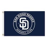 Circular Design San Diego Padres Flag World Series Champions Baseball Cub Fans Team Flags Banner 3x5ft