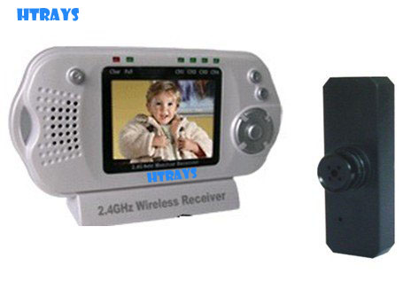 HTRAYS Home baby product Wireless baby monitor,black camera 2.4 Ghz digital baby observer in stock