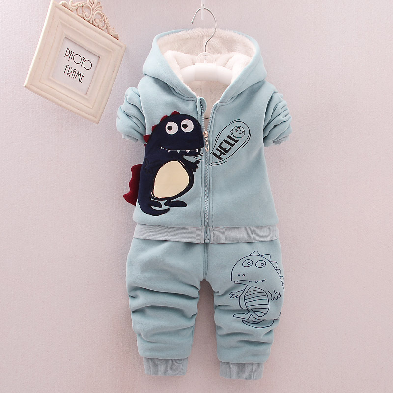 2016 Winter Cotton Cashmere Sweater Two Piece Suits For Girls And Boys Infants Children's Sets