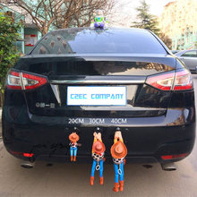 Hot Sell Funny Lovely Toy Story Sherif Woody Car Doll Outside Hang Toy Cute Muneca Auto Accessories 20CM 30CM 40CM