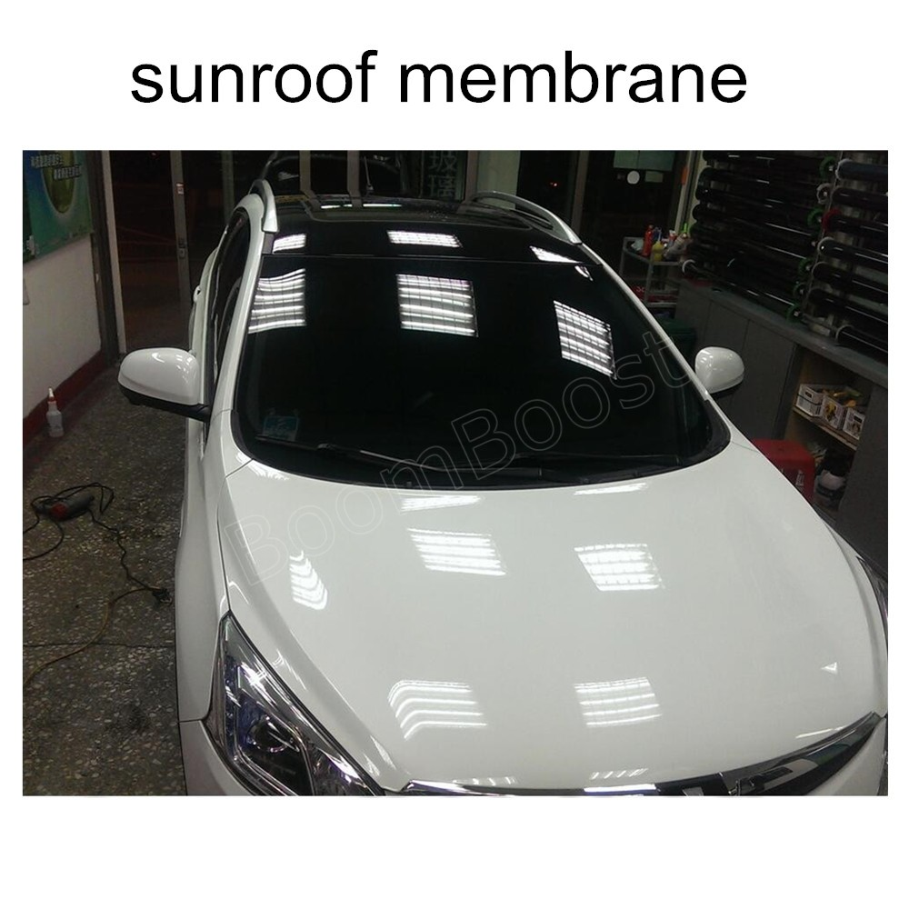 6m x 50cm glossy car roof film black car skylight Film membrane car decoration film panoramic sunroof