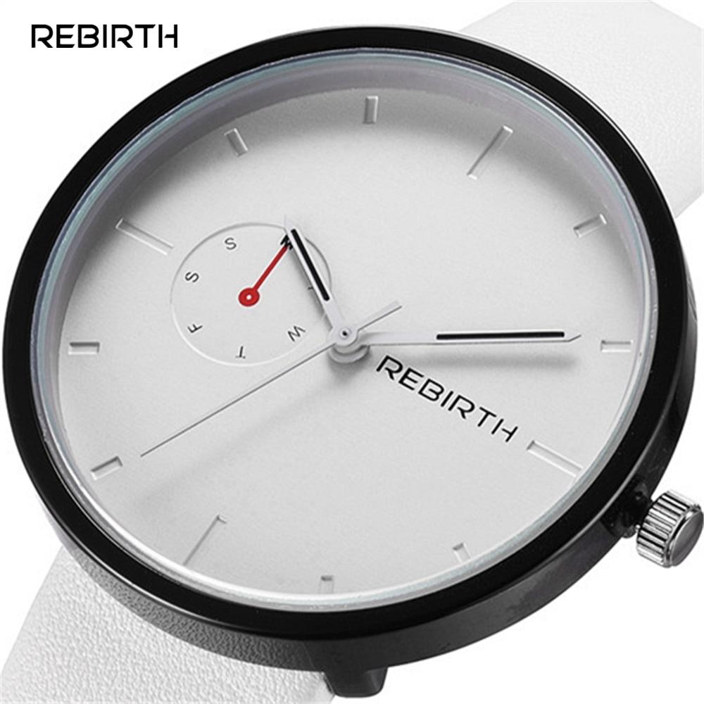 2016 Top REBIRTH Quartz Watch Women Dress Watches Ladies Clock Female Leather Simple Dial Business Quartz-watch Relogio Feminino