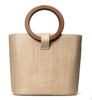Wooden beach bag
