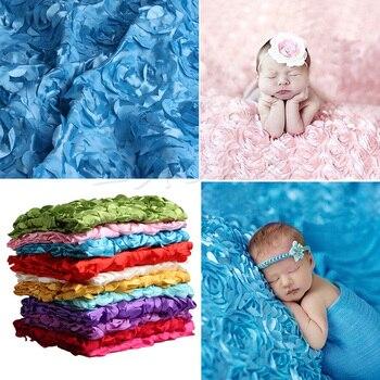 Bebé manta para fotografía recién nacido bebé 3D fotografía apoyos de fotografía de alfombra foto flor Rosa manta de fondo nuevo