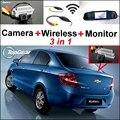 3in1 WiFi Cámara + Receptor Inalámbrico + Sistema de Aparcamiento Espejo Especial Para Chevrolet Chevy Sail 2010 ~ 2014