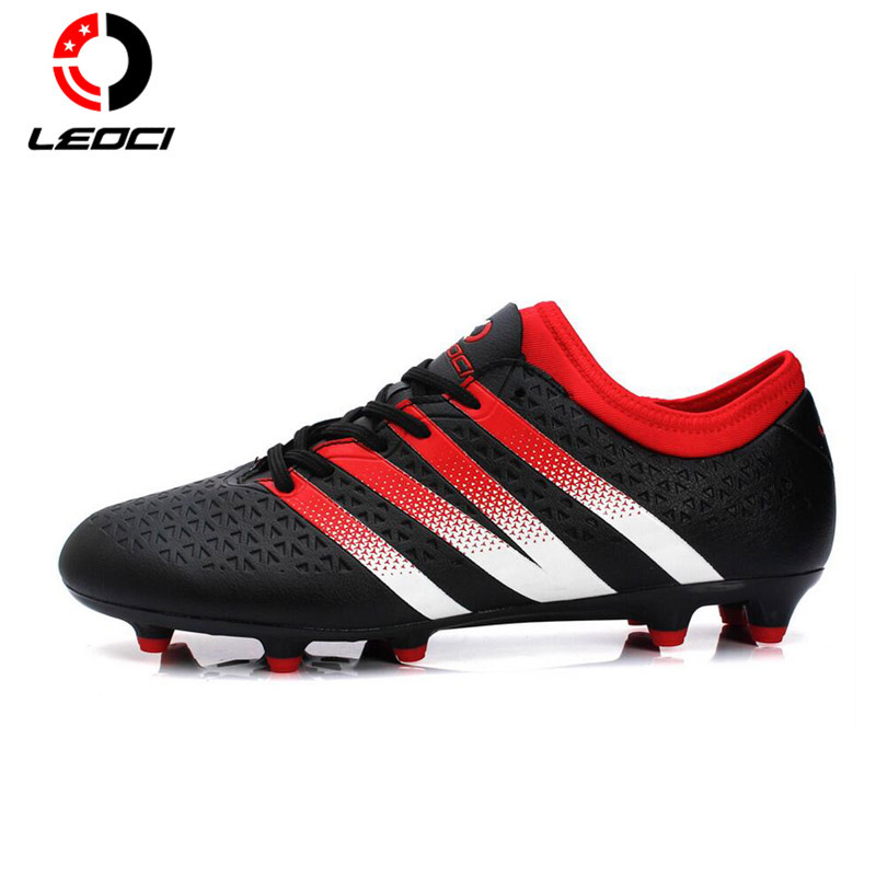 Leoci Outdoor Professional Football Training Soccer Shoes F Rubber Sole Athlet Soccer Cleats Football Shoes Chuteira Futebol maultby kid s boy children blue black ag sole outdoor cleats football boots shoes soccer cleats s31702b