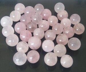 3 шт 20 мм натуральный розовый кварц кристалл лечебный шар украшения дома натуральный розовый кварц камень Прямая поставка