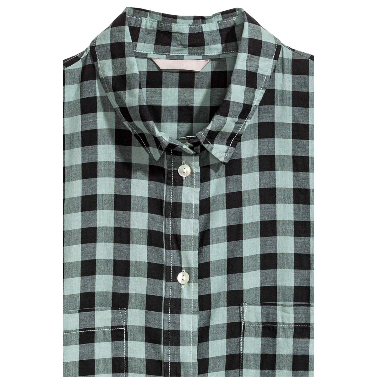 Kissmilk Plus Size Women Button Down Two Pocket Front Shirt Turn Down Collar Plaid Basic Shirt Large Size Casual Loose Shirt 3