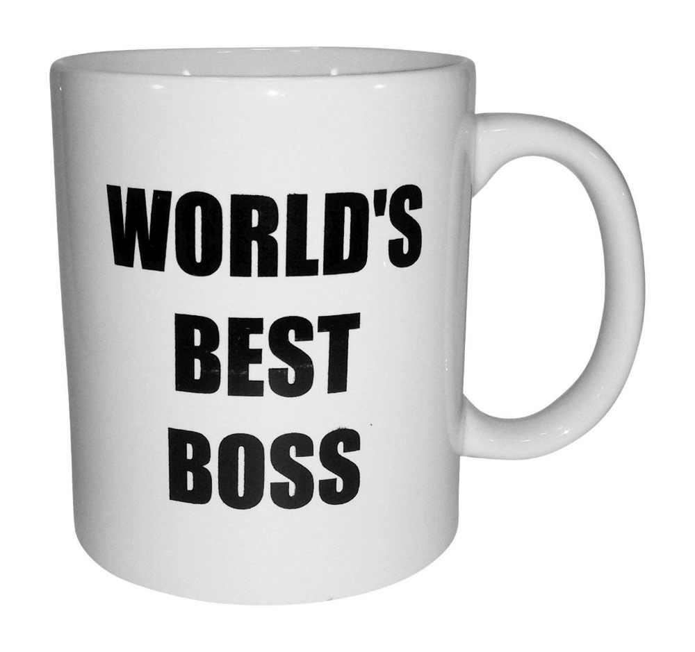 5a619ada171 Funny Ceramics Coffee Mug-World's Best Boss-Humorous Sarcastic Sayings and  Jokes-Christmas
