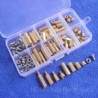 120 adet M4 pirinç 304 paslanmaz çelik Hex Spacer Standoff/vida/Somun Çeşitleri Kiti Set kutuları paketli ücretsiz nakliye