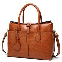 Luxury Designer Women High Capacity Shoulder Bag Large Tote Bag Ladies Quality Leather Handbags Female Crocodile Messenger Bags