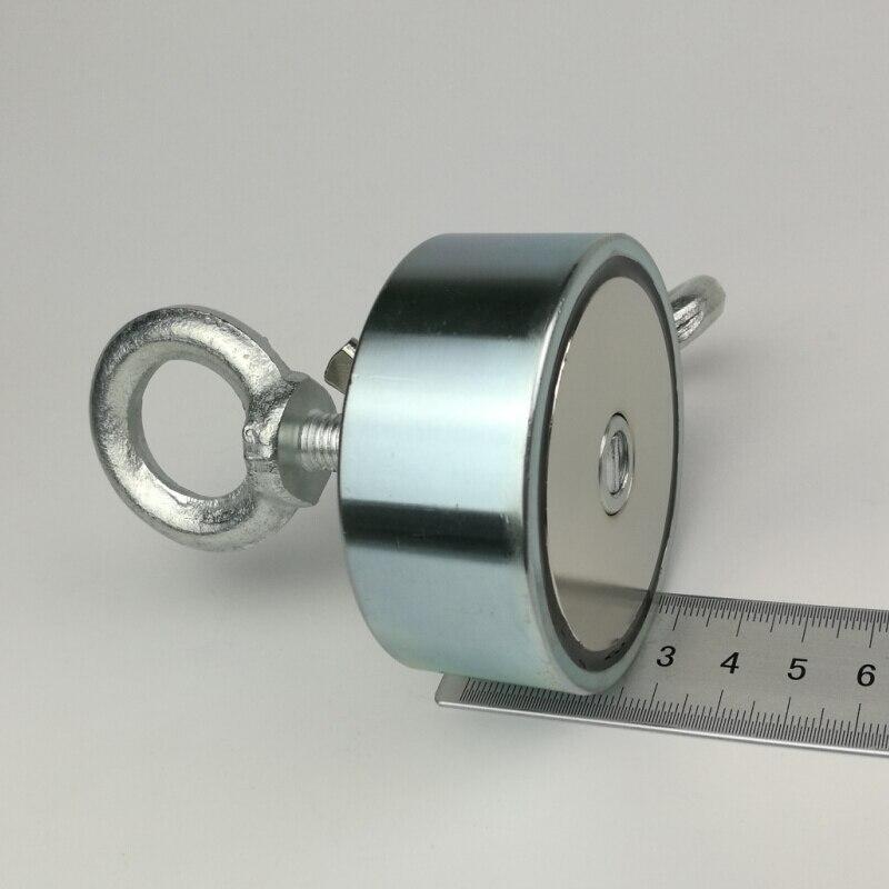1 pièces deux côtés 200 KG Magnétique Matériel Pêcheur Récupération Recherche Néodyme Aimant Puissant Aimant Aimants De Pêche Imanes - 4