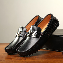 New Fashion Summer Male Moccasins Shoes Genuine Leather Breathable Loafes Pedal Lazy Men's Driving Shoes Size 38-44