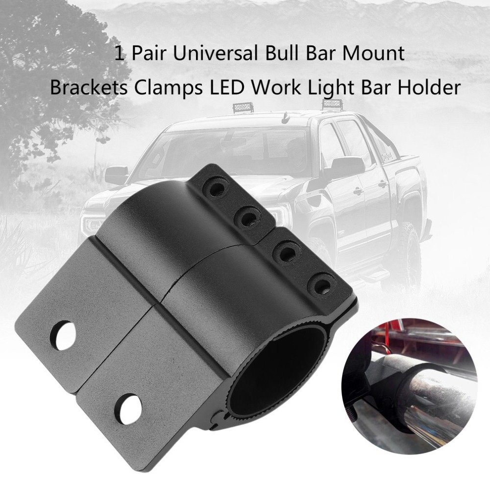 1 Pair Universal Bull Bar Mount Brackets Clamps Adjustable LED Work Light Bar Holder Vehicles Driving Lights Bracket Top sale
