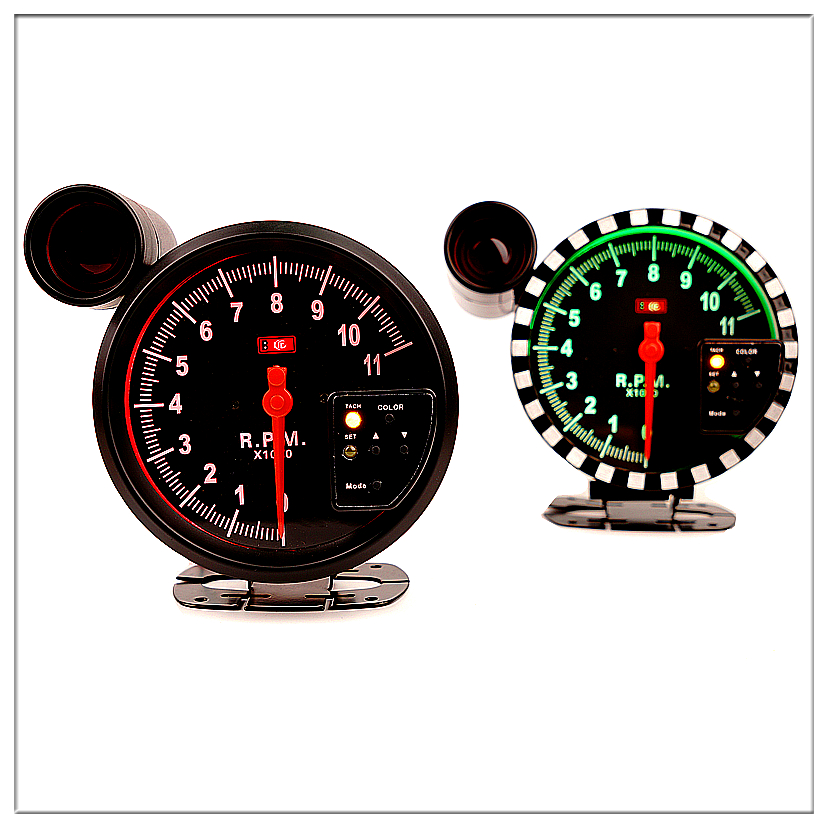 5Tachometer Gauge 7 backlight colors 0 11000 RPM Shift Light BF style Auto Pointer gauge saat Meter performance gauge 12V