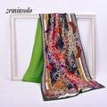 Fashion Duplex Brand Scarf For Women Wrap 70*190cm Large Size Women Scarves Shawls Plaid Sheer Foulard Silk Scarf Hijab Stole