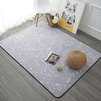 150 × 200センチナイト星座用カーペットリビングルームホーム寝室ラグやカーペットコーヒーテーブルの簡単なラグマット子供プレイマット