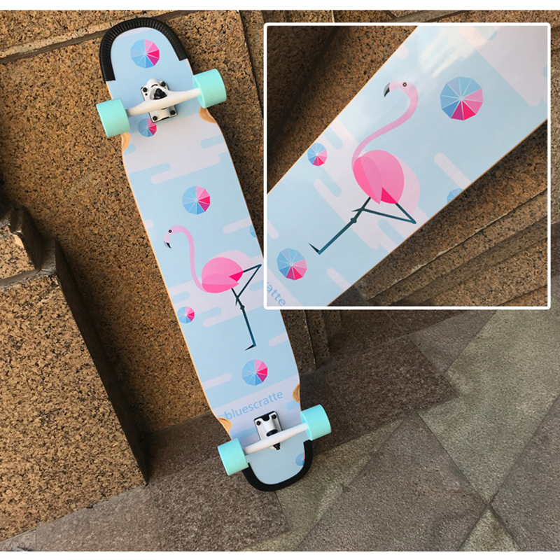 Professional Canadian Maple Complete Longboard Deck Skateboard Road Street Dancing LongBoard Double Rocker Skate board 4 Wheels