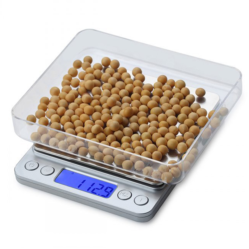Electric Kitchen Scale 1kg/2kg/3kg 0.1g Platform With LCD Display Cooking Food Scale Precision Jewelry Scale Weight Balance