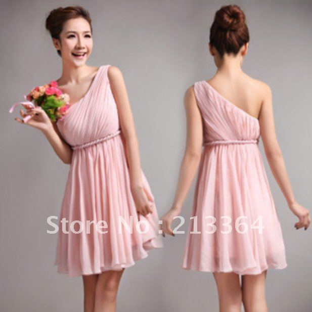 Discount Free Shipping Cwds078 One Shoulder With: Free Shipping Chiffon One Shoulder Greek Goddess Elegance