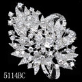 Rhinestone Crystal Bouquet Vintage Pin Brooch Flower Lapel Pins Brand Lot for Wedding broaches Bridal For Women Bridal Jewelry