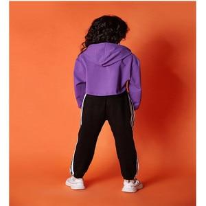 Image 5 - בנות clothings בגדי 10 12 שנה ארוך שרוול ג אז ריקוד תלבושות לילדים היפ הופ הסווטשרט למעלה תלבושות ילדים בנות