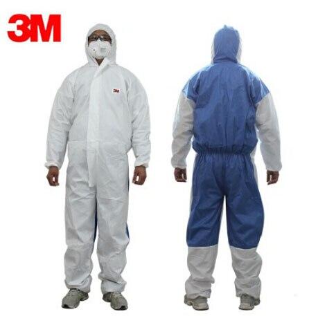 bilder für 3 Mt 4535 Chemische Overalls Mit Kapuze Schutz Elastische Taille Kleidung Gegen Trockenen Partikeln/Laborschutz H020109