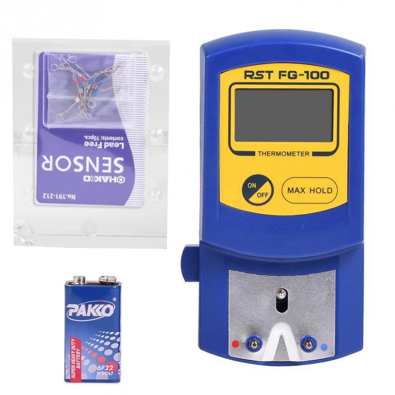Цифровой ЖК-дисплей, термометр с наконечниками паяльника 0 ℃ ~ 700 ℃ 0 ℉ ~ 1300 ℉, прибор для измерения температуры паяльника, термометр с наконе...