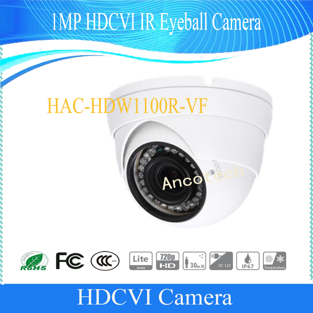 Free Shipping DAHUA CCTV Security Camera 1MP HDCVI IR Eyeball Camera IP67 without Logo HAC-HDW1100R-VF free shipping dahua cctv security camera 4mp hdcvi ir eyeball camera without logo hac hdw1400m