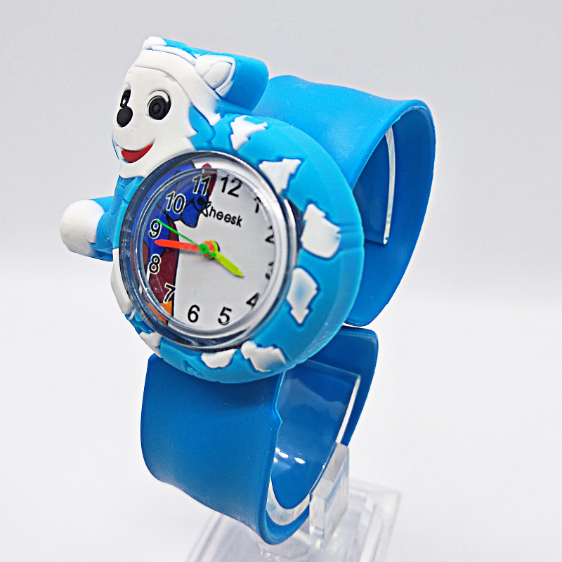 hot selling pooch team Children watch for girls boys cartoon dogs Tape patted table kids watches students child gift baby Clock