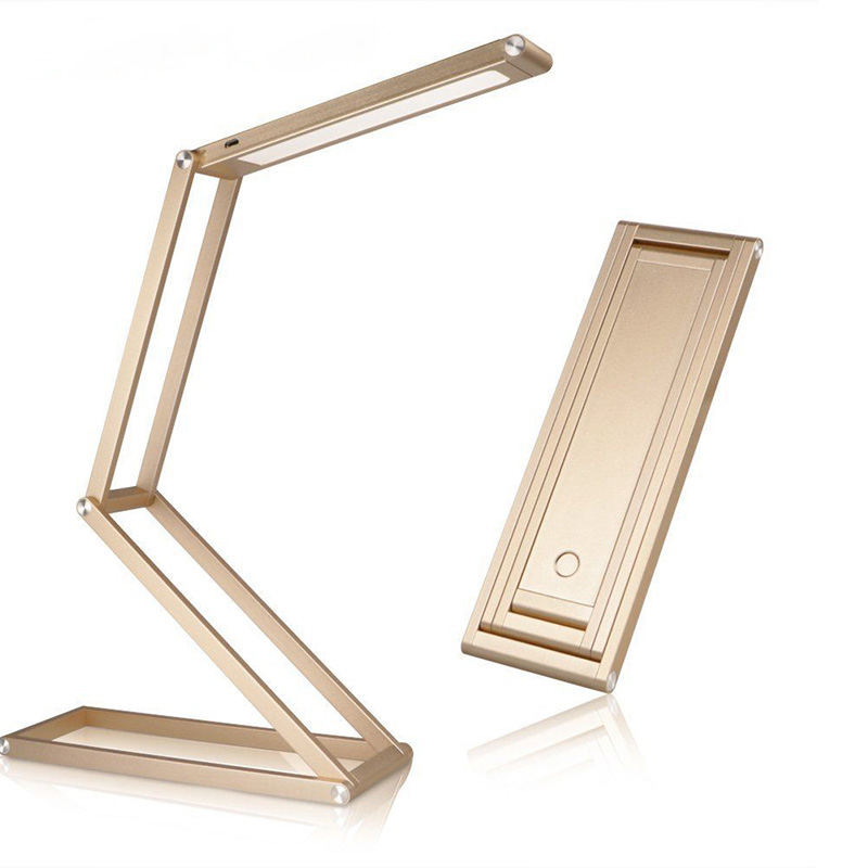 ФОТО Ultra-thin Deformation LED Book Lights ABS + Aluminum Alloy Usb Rechargeable Lamp Folding Office Lights Portable Dimming Lamp