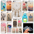 Teléfono contraportada casos para iphone 5 iphone 5s se ultra delgado soft tpu de silicona animales impresos flower beauty girl back case cover