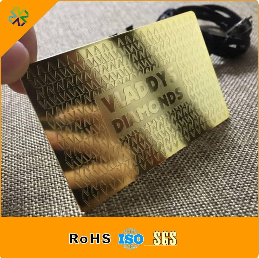 ᗐcustom Business Card Printing No Minimum Metal Business Card A440
