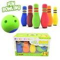 Colorful 6 Pcs Espuma Conjuntos 20 cm alta Bolas De Boliche Boliche Esporte Das Crianças Das Crianças Brinquedos Educativos Ao Ar Livre Indoor