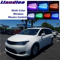 LiandLee Car Glow Interior Floor Decorative Atmosphere Seats Accent Ambient Neon light For Chrysler Pacifica