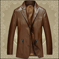 2015 Korean jaqueta de couro masculina men washed leather sheep suits Haining Slim lapel suits men's leather motorcycle jacket