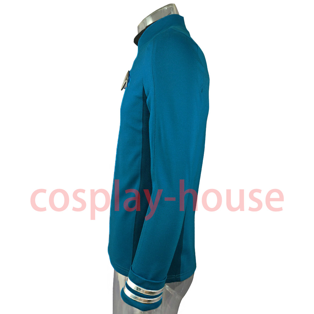 Cosplay Star Trek Custume Beyond Blue Captain Kirk Uniform Spock Blue Uniform Badge Scotty Red Halloween Party Prop (2)