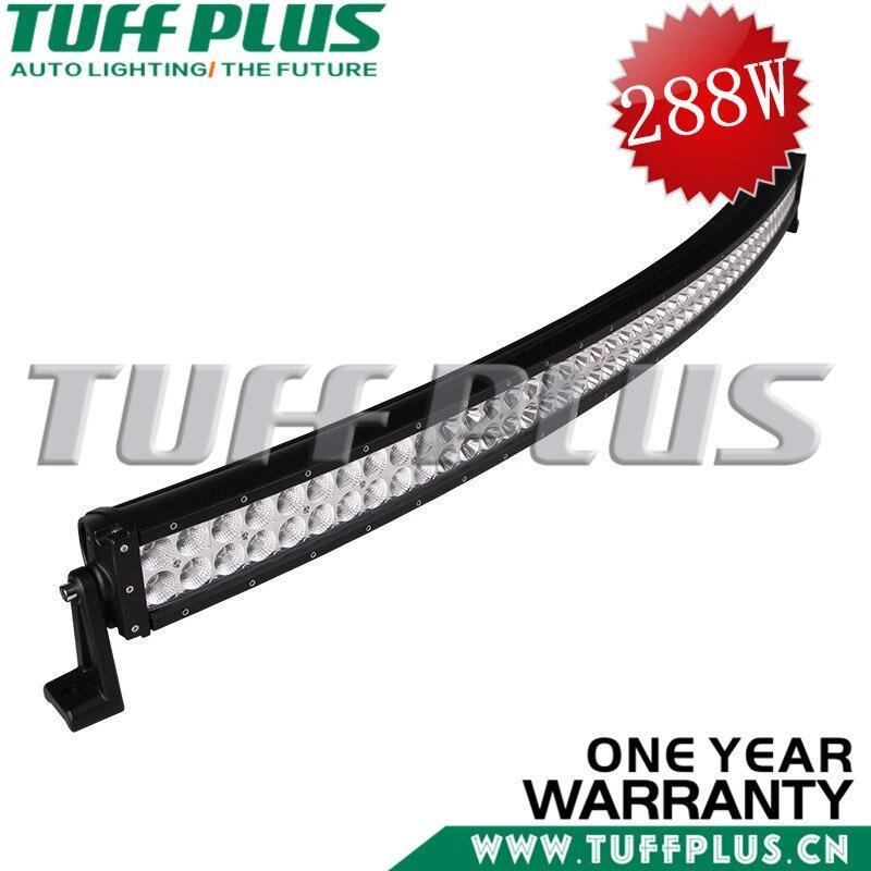 50INCH  288W Curve Double Row LED Light Bar Black Combo beam for Jeep,UTV,ATV,Truck,offroad led car accessories видеоигра бука saints row iv re elected