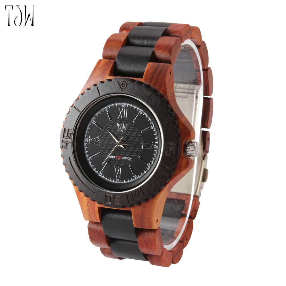 TJW Mens fashion creative bamboo watch imports Shi Ying movement high-end bamboo watch men s and women s watch leisure sports