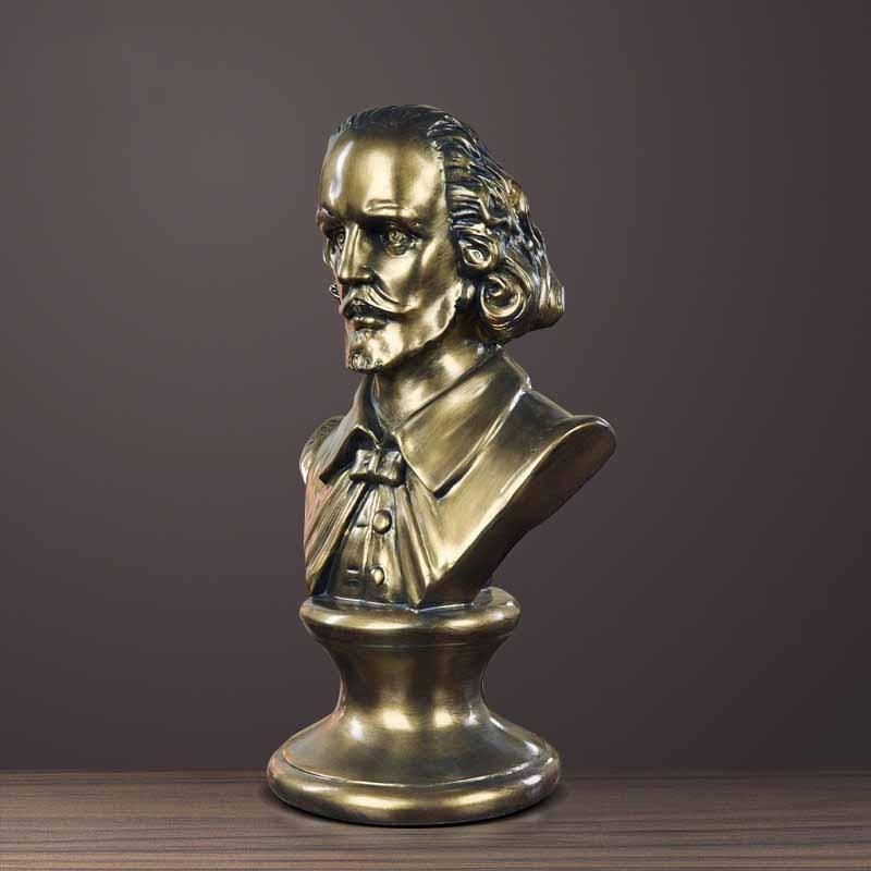 Writer Shakespeare portrait figure statue sculpture European creative home decorations study soft decoration