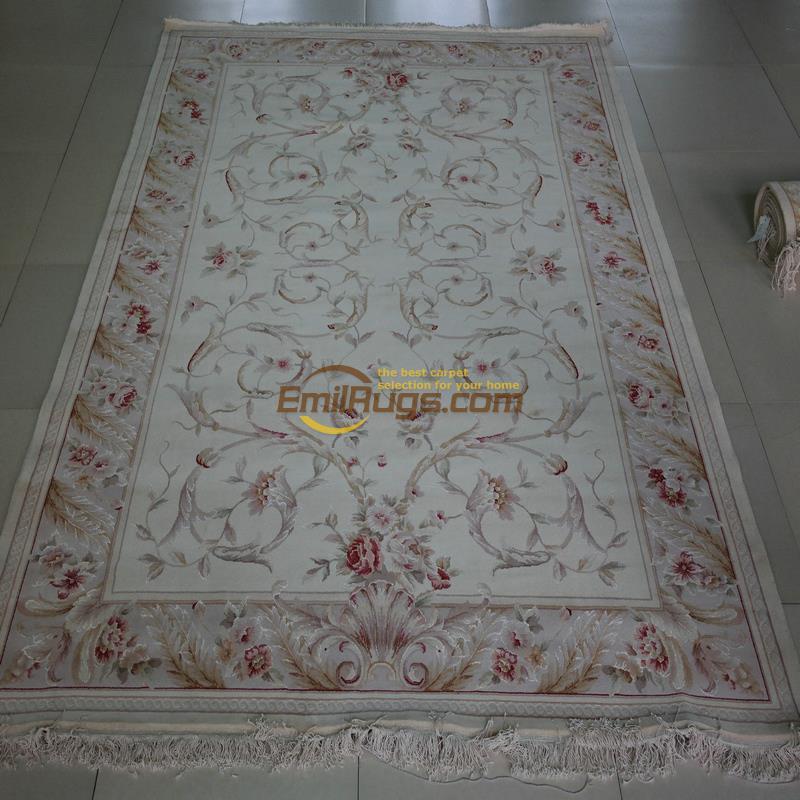 Tapis de soie noué à la main Pure laine traditionnelle feng shui boucle artisanat tapis taille européenne tapis persan