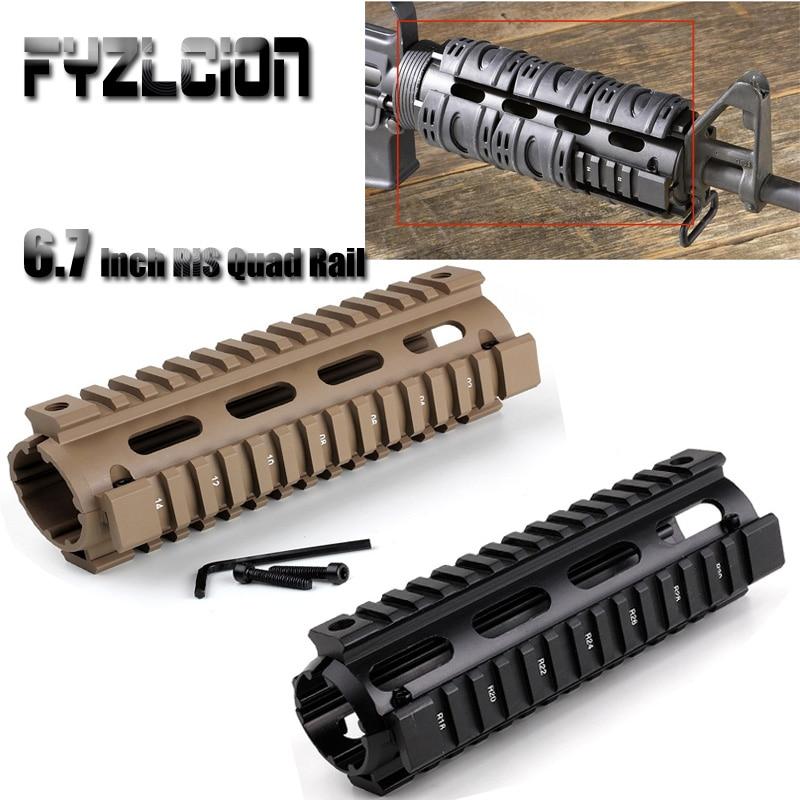 AR-15 M4 Free Float Handguard Carbine 6.7 Polegada Handguards 2 Drop-In Quad Rail Handguard Carabina Carabina De Ar Âmbito montar