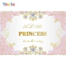 Yeele Princess Backdrops Pink Gold Streak Diamond Baby Shower Photography Backgrounds Photographic for Photo Studio