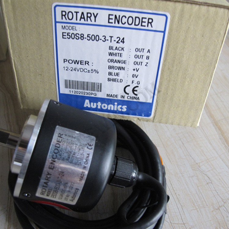 Autonics Roatry Encoder NEW in Box E50S8-500-3-T-24 Alto Knicks AUTONICS encoder E50S8 500 3 T 24, E50S8/500/3/T/24 e50s8 8000 3 v 24 e50s8 8000 3 t 24 e50s8 8000 6 l 5 new and original autonics encoder 12 24vdc