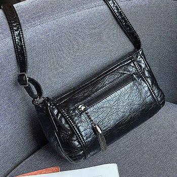 ecef09f1f Venta caliente 2019 Vintage bolsos pequeños de la PU de cuero de las mujeres  de marca famosa, bolsas de bandolera bolso de embrague de mujer, ...
