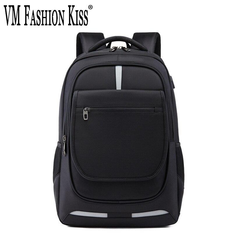 VM FASHION KISS véritable hommes d'affaires sac à dos étanche meilleur antivol Usb charge voyage femmes 17 pouces sacoche pour ordinateur portable