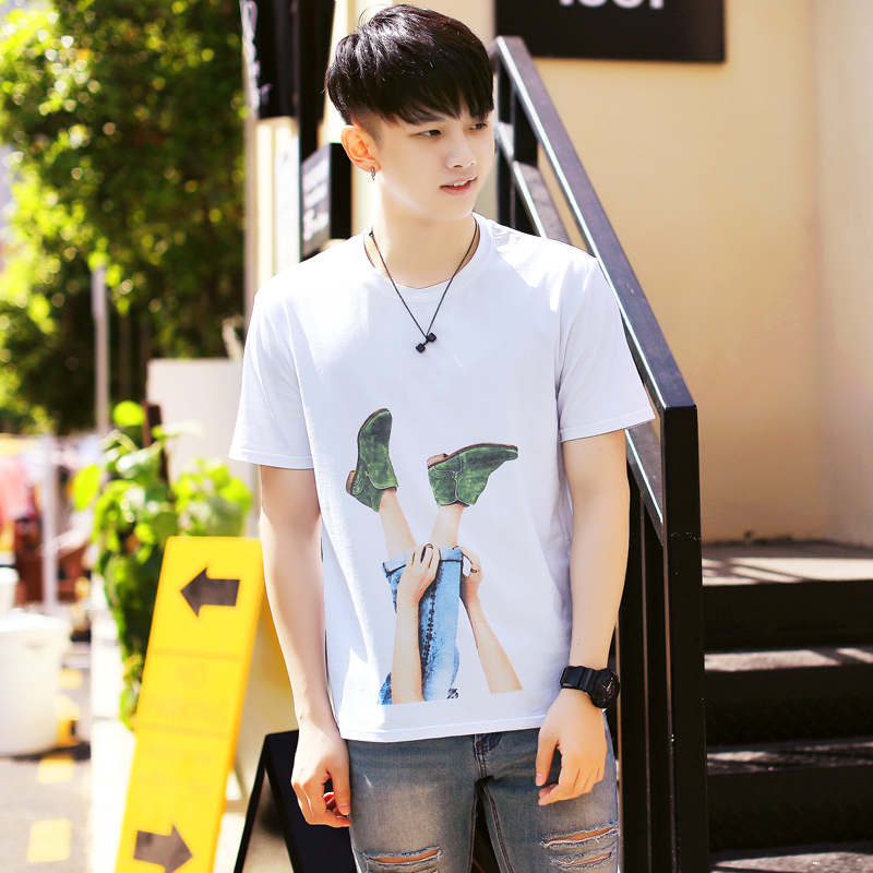 2018 new fashion cityboy Absorbed Quality The Cat Shop Above Score Leaf Number Printing Short Sleeve T-shirt Free shipping
