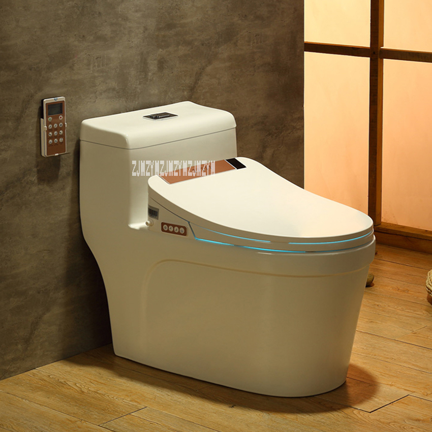 J-8801 Smart Toilet Seat Automatic Multifunction Electric Ceramic One Piece Toilet 1700W Intelligence Bathroom Seat Toilet 220V